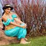 Sara as Arabian Princess Sitting on a Rock