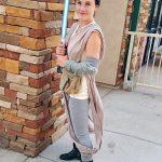 Kelsey as Galactic Warrior